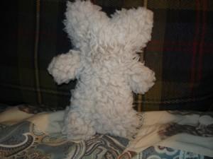 Marmaduke's fuzzy bear